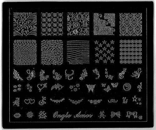 Plaque de Stamping CLASSIQUE version de luxe   ONGLE AMOR