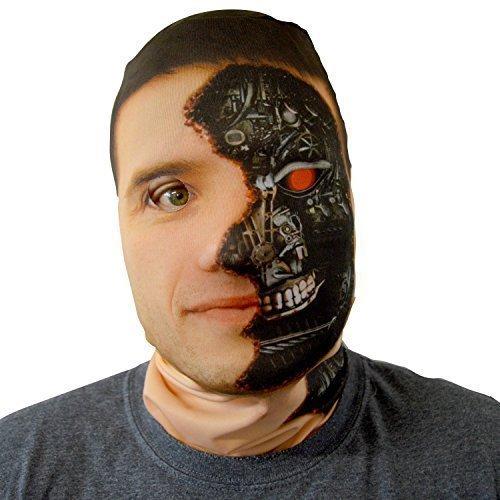 esichtsmaske Cyborg Terminator Kostüm Horror Lycra (Terminator Halloween Kostüm)
