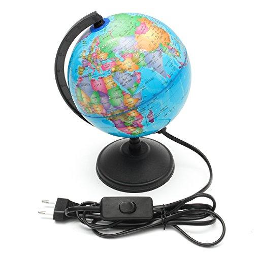 ZHENWOFC Welt-Erde-Kugel-Atlas-Karten-Geografie-Bildungs-Geschenk mit drehendem Stand-LED-Licht Hardware-Ersatzteile - Licht Hardware