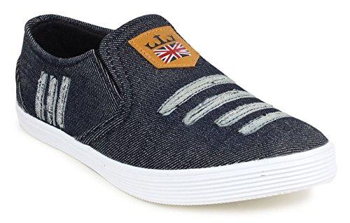 loafer chaussures partie usure de glissement des hommes sur la conduite pantoufle toile noire chaussures Noir