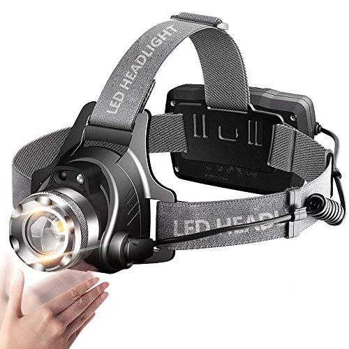 DFRgj Fari LED Fari Torcia Faro Impermeabile Fari USB Fari Ricaricabili Sensore di Movimento a infrarossi Fari orientabili orientabili a 90 °