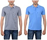 Combo Pack of 2 MEN'S POLO T-SHIRT L.BLU...