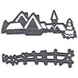 Marianne Design Fustelle Craftables Tiny's Villaggio Invernale, Metal, Grey, 8.1x3x0.3 cm