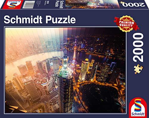 Schmidt- Puzzle Giorno e Notte Intervallo di Tempo 2000 Pezzi, 58239