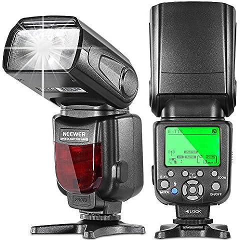 Neewer® NW660III 2.4G E-TTL HSS 1 / 8000s LCD Pantalla inalámbrico Maestro / Esclavo Flash para Canon 7D 70D T5i / 700D T4i / 650D T3i / 600D T2i / 55OD T1i / 500D SL1 / 100D y todas las cámaras reflexivas digitales de