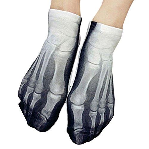 Unisex 3D Neuheit Kreative Muster Crew Socken mit Schweinefleisch Skelett 100 Dollar Muster Erdbeere Segeltuchschuhe Eis Lion Muster (Kissen Zeigen Socken)
