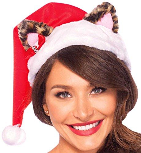 Leg Avenue A2763 - Weihnachtsmütze Santa Kitty Pluesch Hut - Einheitsgröße, mehrfarbig -