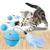 Giocattoli Interattivi per Gatti, Tenfong 360 Gradi automatico, USB Auto-rotante, Giocattolo per Animali Domestici, Cani, Palla da Caccia, Giocattolo per Esercizi con Penna Staccabile