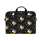 Best Kind Macbook Cases - Laptop Case, Unicorn Stars Printed with 3 Compartment Review