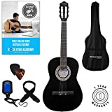 Acoustic Guitar Package 3/4 Sized (36' inch) Classical Nylon String Childs Guitar Pack