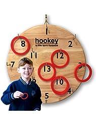 Jeu de Mur Elite Hookey Ring Toss - 5 jeux de la famille amusant sur 1 Tableau - Jeu Intérieur ou Extérieur Idéal pour les Enfants ou Adultes.
