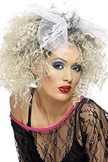 Smiffys Perruque enfant sauvage des années 80, blonde, cheveux courts, bouclés avec nœud (B00BBLEEDQ) | Amazon Products