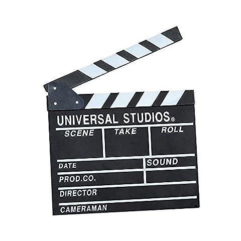 Holz Regisseur Action Schild Prop Regisseur Video Szene Filmklappe, 25x 30cm (25x 30cm), schwarz, (Tv-werbung Kostüme)