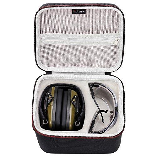 LTGEM EVA Hard Case Reise Aufbewahrungstasche für Honeywell 1013530 Howard Leight Impact Sport Ohrenschützer und Sharp-Shooter Sicherheits Brillengläser