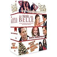 Coffret Noël 4 DVD : le noël de belle + retour vers une nouvelle vie + un noël de star + back to christmas