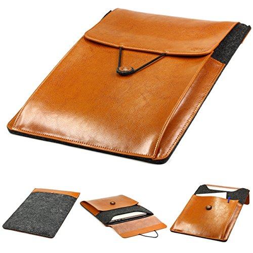 Original Urcover® Handgefertige Fashion Designer Mac-book Pro 15 Zoll Tasche Hülle Tasche Sleeve dpark Style Notebooktasche Laptophülle 15 Zoll Dunkel Grau Braun