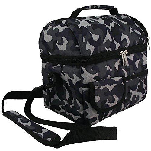 LU2000-Borsa per Picnic Lunch Box porta colazione, contenitori per alimenti, più caldo all'uso camouflage camouflage