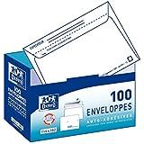 Oxford Boite distributeur de 100 enveloppes auto-adhésives 114x162mm précasées