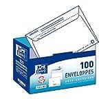 Oxford Correspondance Enveloppes avec distributeur Boite de 100 Blanc...