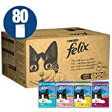 Felix Cat Food Mixed In Gravy and Jelly 80 x 100g (80 Pouches)