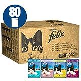 Felix - Nourriture pour chat, 80 x 100g (80 Pouches)