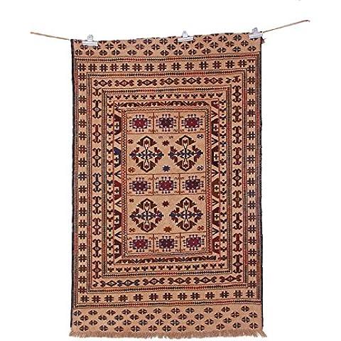 traditioanl Kashmiri Antalya lana Kilim Alfombra de área de 4x 6Kelim Alfombra