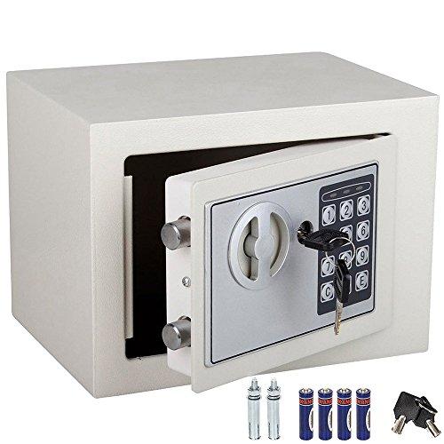 Caja fuerte de pared con combinación numérica digital electrónica y doble llave...