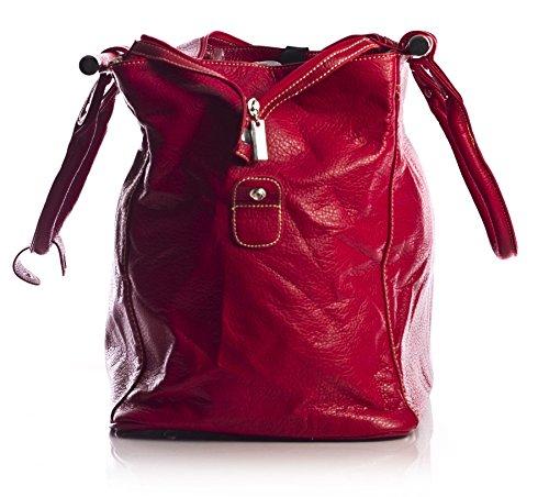 Big Handbag Shop Borsone bagaglio a mano Borsa da viaggio in pelle sintetica in volo Dark Grey