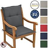 Beautissu Cuscino per sedie da Giardino e spiaggine Loft NL - 100x50x6cm -soffice Imbottitura e Comfort Extra - Grigio