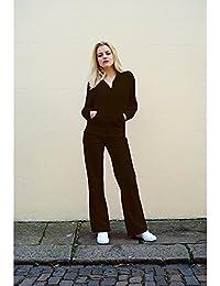 Ensemble de survêtement Sweat à capuche et bas en velours pour femme 80% coton, 20% polyester
