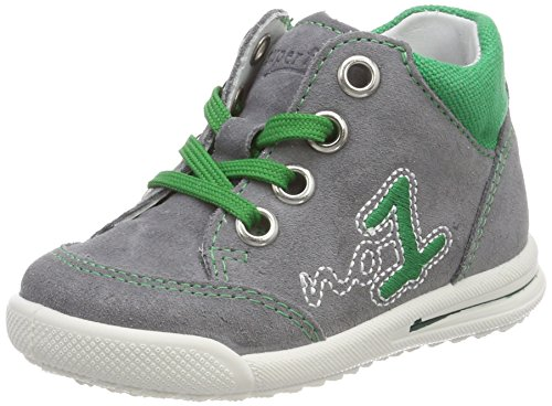 Superfit Baby Jungen Avrile Mini Sneaker, Grau (Smoke Kombi), 24 EU
