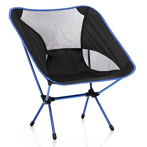 stuhl bequeme Angler-stuhl für faltbare platz für stuhl outdoor und indoor aktivitäten Camping, Wandern, Pick nick, Angeln, Garten BBQ, Strand Reisen, Pause, Unterhaltung Blau (Beach Folding Chair Nylon)
