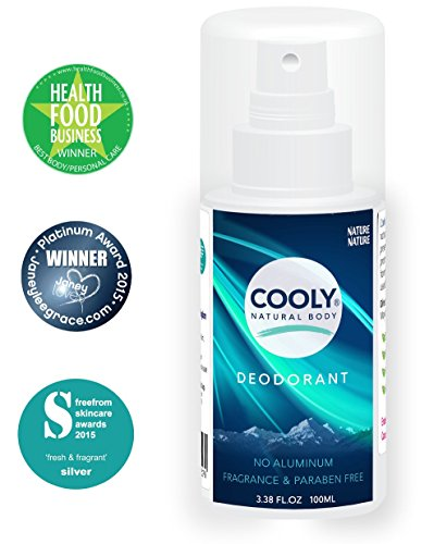 Cooly Natural Body Deodorant ☆ No Aluminum ☆ Fragrance & Paraben Free ☆ 100% Natural Protection With NO Harmful...
