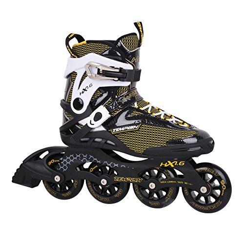 TEMPISH HX 1.6 84 / HX 1.6 90 Inline Skates + Ultrapower Beutelrucksack   Sport   Outdoor   Roller   Rollerskates   Rollschuhe Größe:41, Farbe:HX 1.6 90mm Black/Yellow