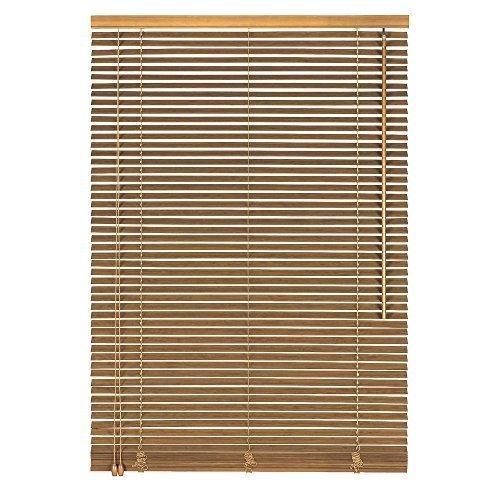 Easy-Shadow Holzjalousie Holz-Jalousie Bambus Jalousette Echtholz Rollo Jalousette 70 x 190 cm / 70x190 cm in Farbe eiche - Bedienseite links // Maßanfertigung