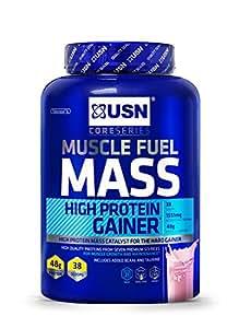 USN Muscle Fuel Mass Gain Shake Powder, Strawberry - 2 kg