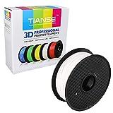 TIANSE Weiß PETG 3D Filament 1,75 mm für 3D Drucker 1 kg, Dimensionsgenauigkeit +/- 0,03 mm