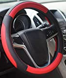 Mayco Bell Car Steering Wheel Cover 15 inch Comfort Durability Safety (Red)