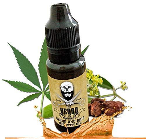 Huile de croissance de barbe, huile de croissance des cheveux (15 ml) huile de jojoba et de chanvre pour créer les conditions de croissance parfaites.