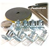 Leisure Stainless Steel Kitchen Sink Fixing Pack with Clips (8)