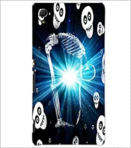 PrintDhaba Stretching Skeleton D-2859 Back Case Cover for SONY XPERIA Z4 (Multi-Coloured)