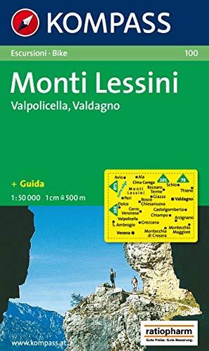 Carta escursionistica n. 100. Trentino, Veneto. Monti Lessini, Gruppo della Carega, Recoaro Terme 1:50000: Wandelkaart 1:50 000