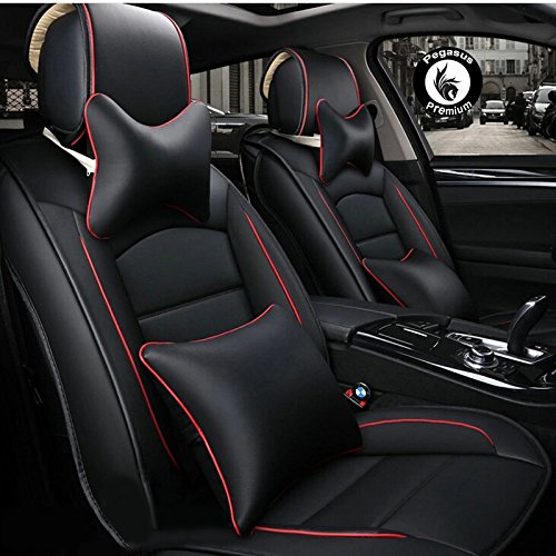 Pegasus Premium Pu Leather Car Seat Cover Black Red For Tata Tigor