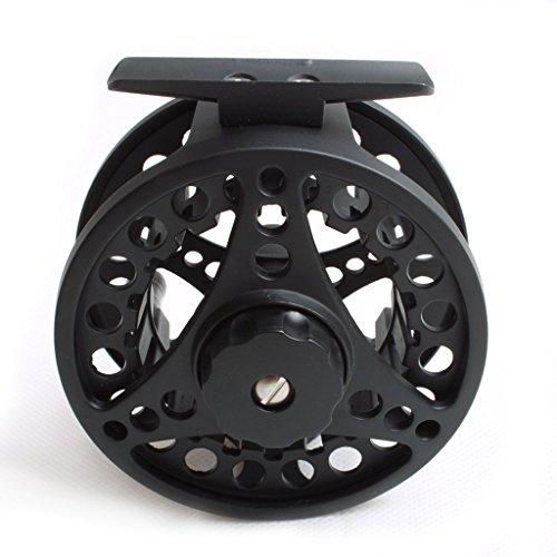 Preisvergleich Produktbild Aluminiumfischen Fliegenrolle 2 / 3 Gewichtsdurchmesser 68mm Links Fit Rechten Hand Schwarz