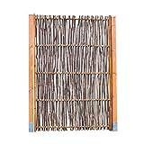 Haselnusszaun LATO Kompakt - Sichtschutz Naturzaun aus Haselnusszweigen in 4 Größen (120 x 100 cm)