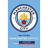 #4: Manchester City F.C. Mini Poster Sticker Crest 56