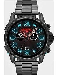 Diesel Herren Digital Smart Watch Armbanduhr mit Edelstahl Armband DZT2011