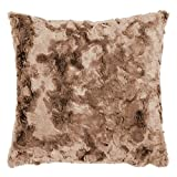pad Kissenhülle - Bardot - 45 x 45 cm - Waschbar bei 30°C - 100% Polyester - Felloptik - Kunstfell - Reißverschluss , Farbe:Pad Beige_B01