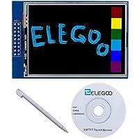 ELEGOO UNO R3 Pantalla Táctil TFT DE 2,8 Pulgadas con Tarjeta SD con Todos Los Datos Técnicos en CD para Arduino UNO R3