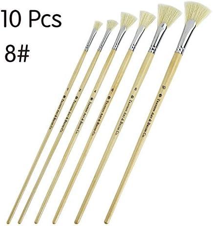 Fournitures d'écriture Dix pcs Multifonctionnel en forme de secteur secteur secteur cheveux artiste peinture pinceau pour huile/acrylique / peinture à l'aquarelle (8) B07JZ5KG9X | Outlet Online Store  885d04